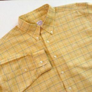 Brooks Brothers Yellow Check Shirt